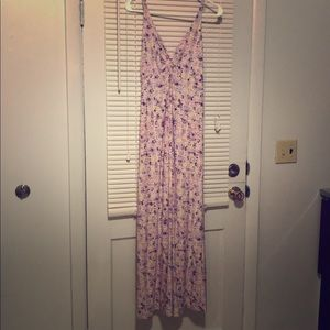 spaghetti maxi spring dress